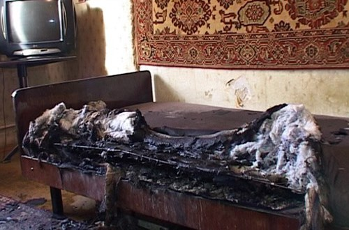 На пожаре в Симферополе пострадал пенсионер