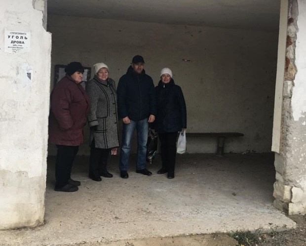 Севастопольская Карань, село Флотское. Выезд депутатов «Добровольца»