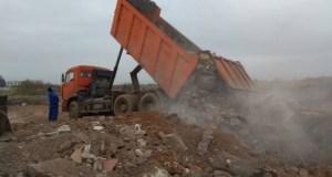 В районе Голубой бухты выявлена свалка строительных отходов