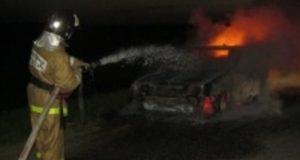 Автопожар в Ялте. Загорелся «немец»