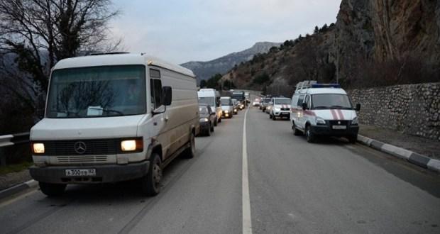 Движение на трассе «Ялта – Севастополь» восстановлено. Обвал убрали