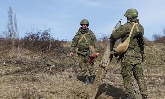 В Крыму тренируются артиллерийские подразделения армейского корпуса Черноморского флота