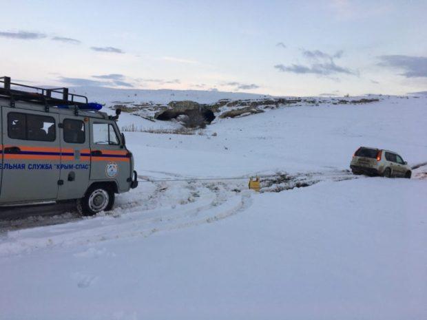 Даже внедорожник в Крыму – не гарантия, что проедешь по снегу