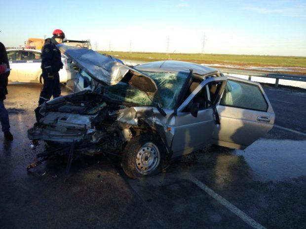 Крымская полиция проводит проверку по факту ДТП на развязке трассы «Таврида»
