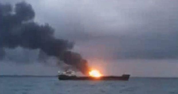 ЧП на подходе к Керченскому проливу – горят два судна, есть погибшие