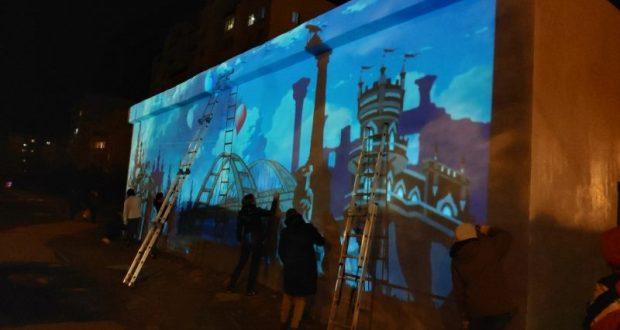 Крым наш по-евпаторийски: фестиваль стрит-арта и молодежный флешмоб