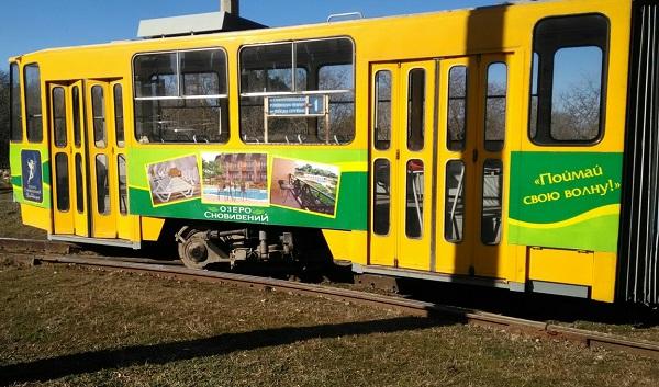 Необычное ДТП в Евпатории: трамвай сошел с рельсов