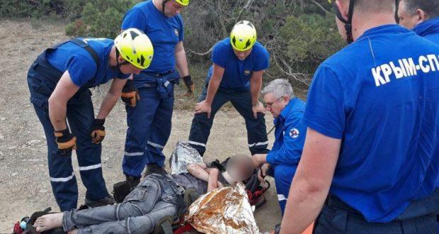 Коварная «Долина ада». В Крыму житель Приморья сорвался с десятиметровой скалы