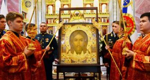 Главная икона Вооруженных Сил России Спас Нерукотворный - в Александро-Невском соборе Симферополя