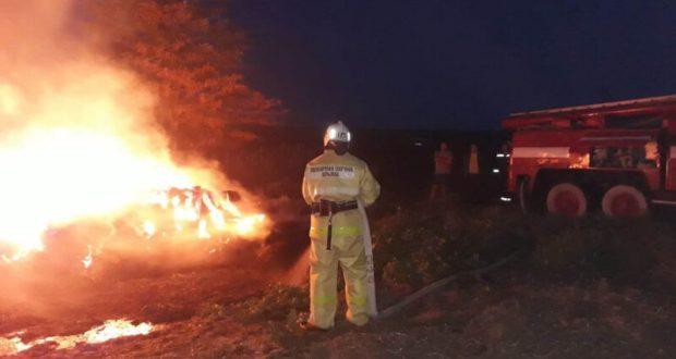 На ЮБК объявлен чрезвычайный 5-й класс пожарной опасности. В Крыму горит сухая растительность