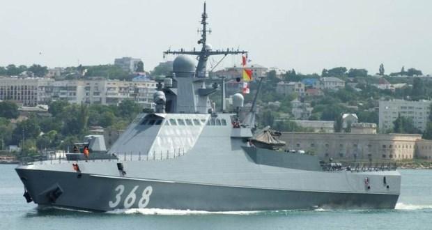 Патрульный корабль Черноморского флота «Василий Быков» вошел в Босфор