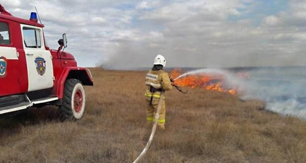 За прошедшие сутки крымские огнеборцы ликвидировали 5 «природных» пожаров