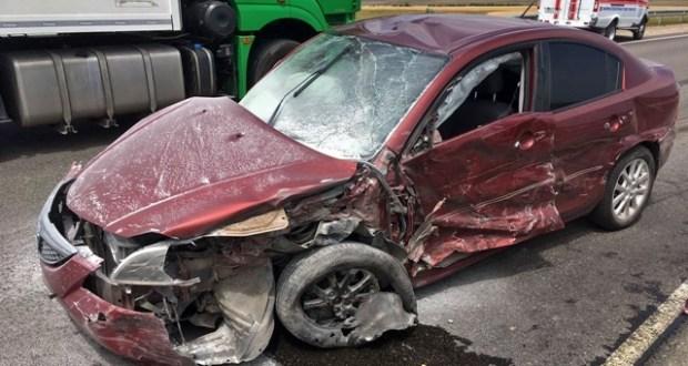 "Очередное ДТП на трассе ""Таврида"": не разминулись «Mazda 3» и грузовики «Mercedes» и «MAN»"