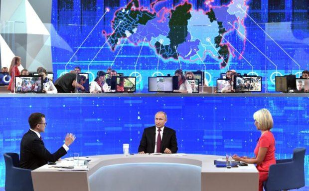 «Прямая линия с Владимиром Путиным». Крым прозвучал трижды: про Украину, санкции и мост