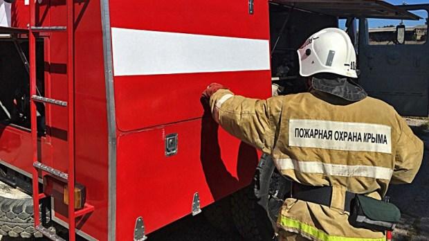 В Крыму ликвидирован крупный пожар на пшеничном поле