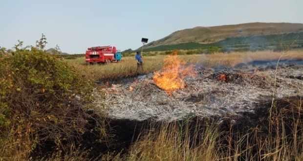 Пожарные бьют тревогу: В Крыму горит сухая трава