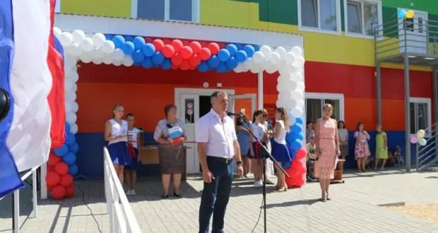 Спикер Госсовета Крыма Владимир Константинов открыл новый модульный детский сад в Керчи