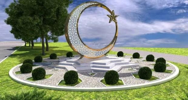На въезде в Симферополь со стороны Белогорска установят мусульманский знак - полумесяц.