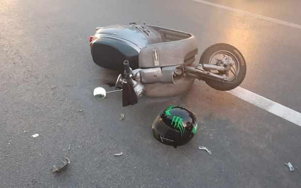 ДТП на выезде из Ялты: пострадали несовершеннолетние водитель и пассажир скутера