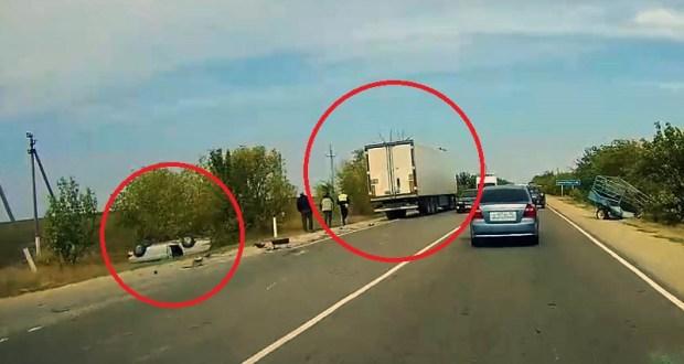 ДТП на трассе «Симферополь – Армянск»: двое пострадавших