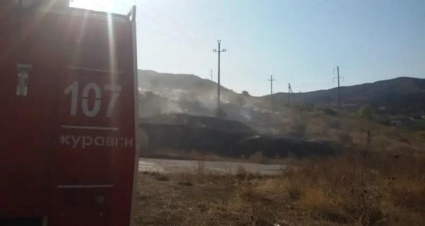 Два пожара в Старом Крыму - горели 5 гектаров сухой травы