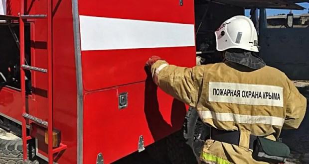 Пожар в Симферопольском районе - горел одноэтажный дом
