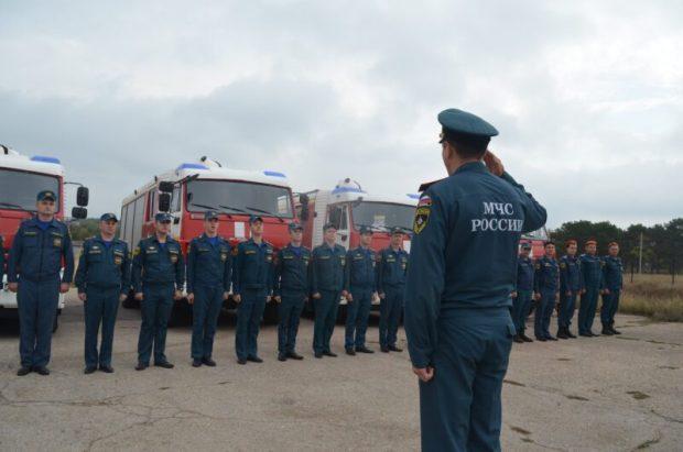 В Севастополе определили лучших в пожарном биатлоне