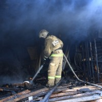 В центре Симферополя горели помещения стадиона «Локомотив»