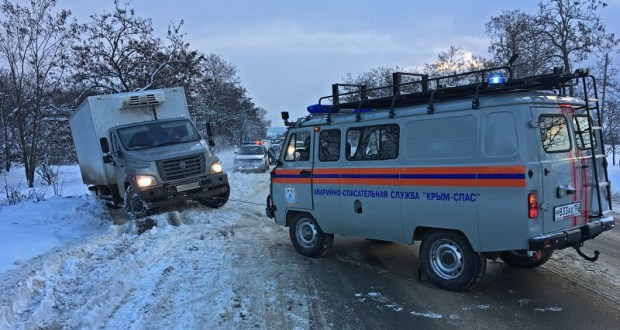 МЧС выступает за ограничение проезда на горных дорогах Крыма зимой