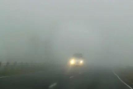 Будьте внимательны на дорогах Крыма! Возможны - туман, сильные дожди и ветер