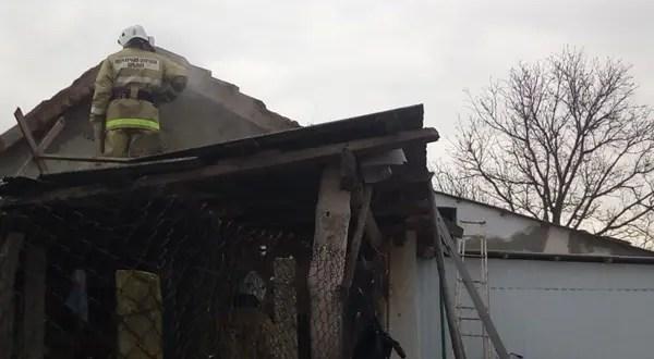 Пожар в Нижнегорском районе. ЧП произошло в частном доме