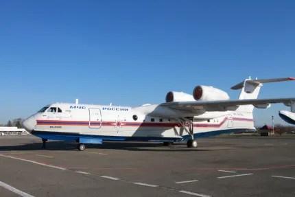 К тушению лесного пожара в Симферопольском районе подключили самолёт-амфибию