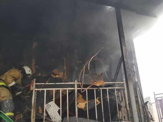 Пожар в Судаке: горел двухэтажный частный дом