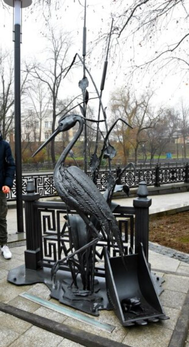 Новый арт-объект - «Цапля Сима» - появился в Симферополе
