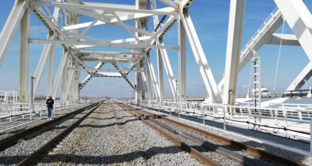 Официально: строительство железнодорожной части Крымского моста завершено