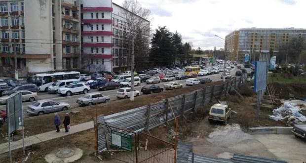 Еще раз о том, как работает общественный транспорт в Симферополе в условиях перекрытия улицы Гагарина