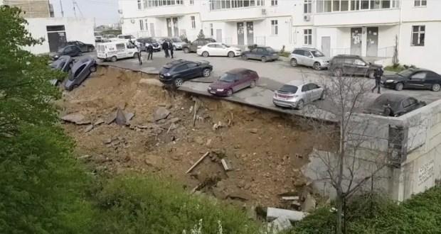 В деле об обрушении придомовой парковки в Севастополе появились подозреваемые