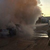 В Симферопольском районе сгорел легковой автомобиль