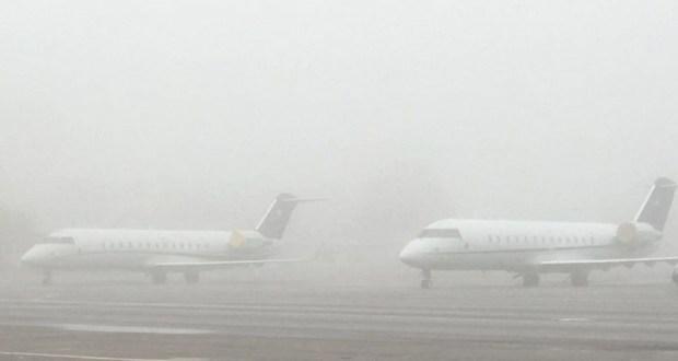 Туман задерживает рейсы в аэропорту Симферополя