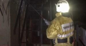 Ночной пожар в приморском селе Малореченское, под Алуштой