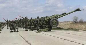 Расчеты салютных дивизионов ЮВО приступили к тренировкам праздничных салютов в День защитника Отечества