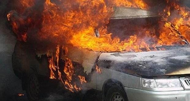 Автопожар в селе Заречном, под Симферополем