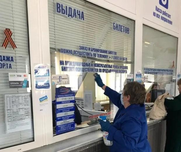 Дезинфекция на автостанциях – проверка крымского министерства транспорта