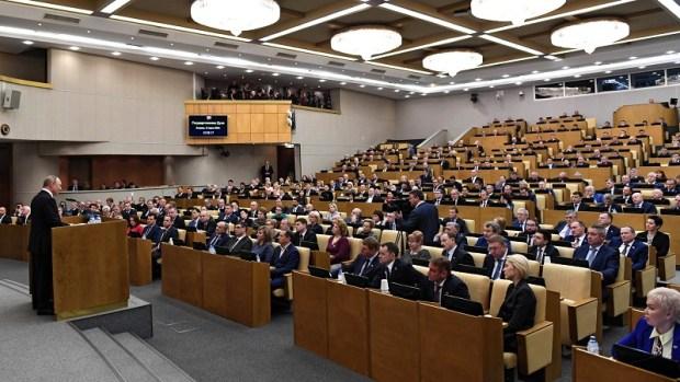 В Госдуме выступил Путин, а депутаты рассмотрели поправки в Конституцию РФ во втором чтении