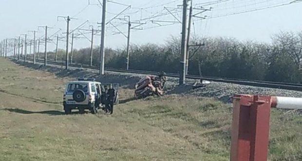 ДТП в Джанкойском районе: столкнулись ВАЗ и… электропоезд