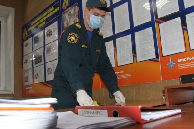В подразделениях Главного управления МЧС России по Севастополю приняты меры профилактики инфекций