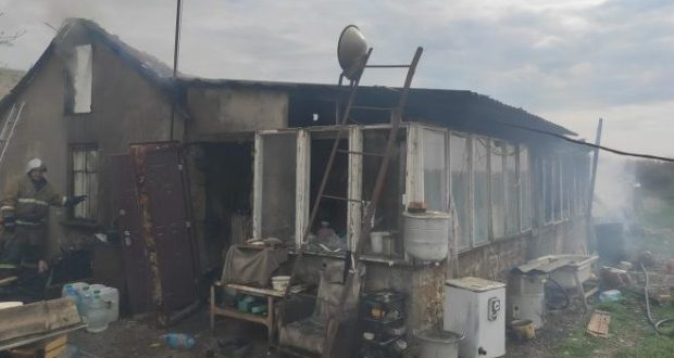 Пожар в Симферопольском районе. Причина? Человеческий фактор