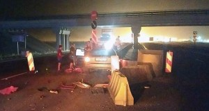 Еще одно ночное ДТП в Керчи: авто врезалось в отбойник