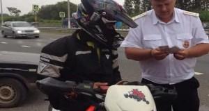 В Симферопольском районе инспекторы ГИБДД провели операцию «Мотоциклист»