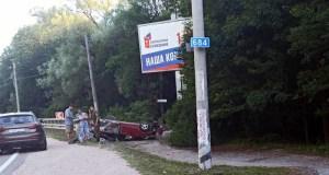 Тройное ДТП в районе Перевального, под Симферополем. Один человек погиб
